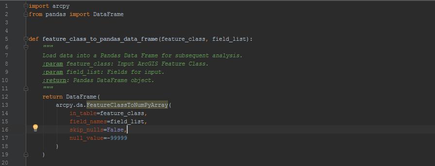ArcGIS to Pandas Data Frame