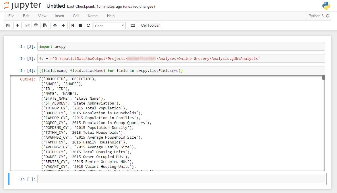 ArcGIS + Python + Jupyter Notebook = Win!